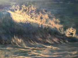 """""""Dancing Wave,"""" Oil on Canvas, 24""""x18"""""""