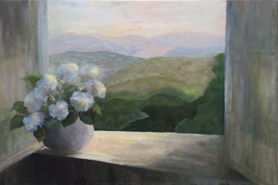 """Beyond the Window,"" Oil on Linen, 24""x16"""