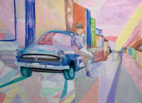 """Cuba,"" Oil on Linen, 24""x18″"