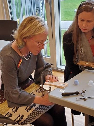 JacQueline at The Women's Brick Initiative workshop in Denmark for the Skaerbaek Fan Weekend