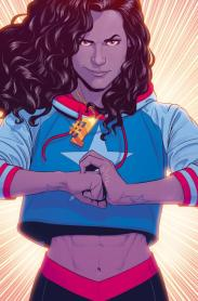 America Chavez is a Latina and lesbian superhero that is featured in Young Avengers (2013) and also has her own series coming out Spring 2017, titled America.