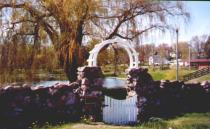 The Arch at the Bridal Pond at Pauquette Park, Portage, Wisconsin.