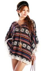 native american poncho clothing womens boho fits retro