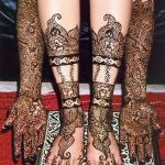 Rajasthani Bridal Mehndi designs for full hands.