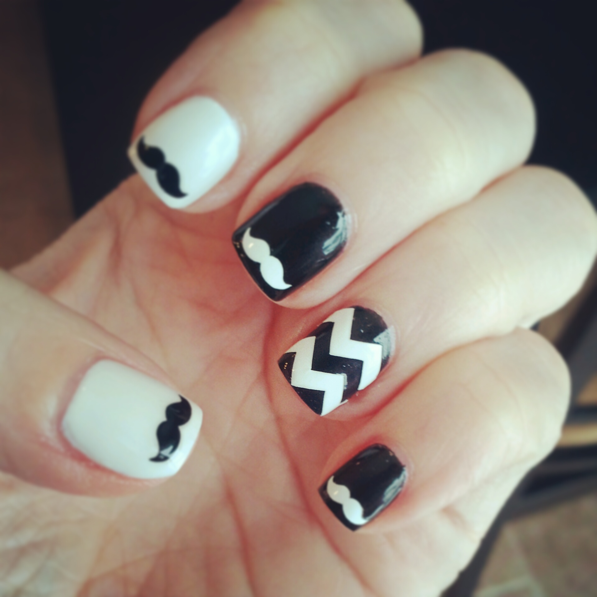 Water Decal Designer French Tips Nail