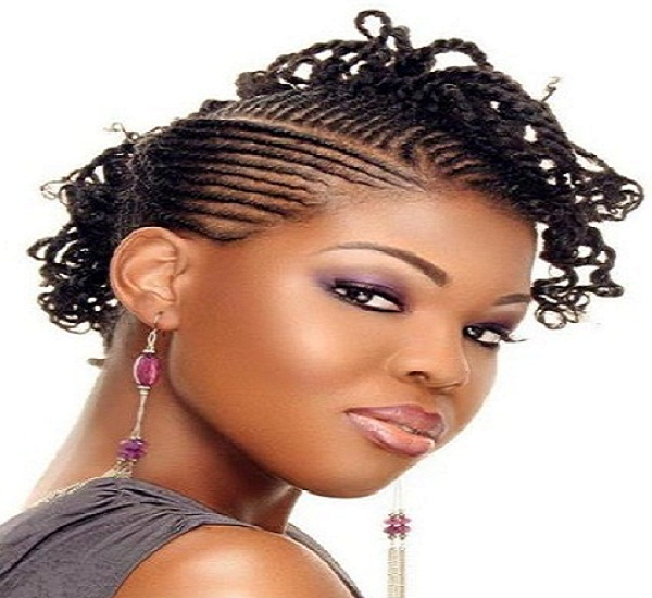 Braided Mohawk Hair Style for Black African Girls 50