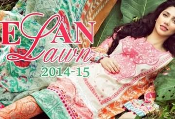 Elan Lawn 2014 catalogue, Elan Summer Lawn Collection 2014 for Women