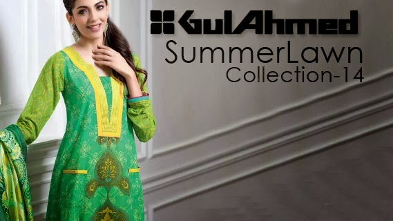 Gul Ahmed Summer Collection 2014, Lawn Dresses 2014