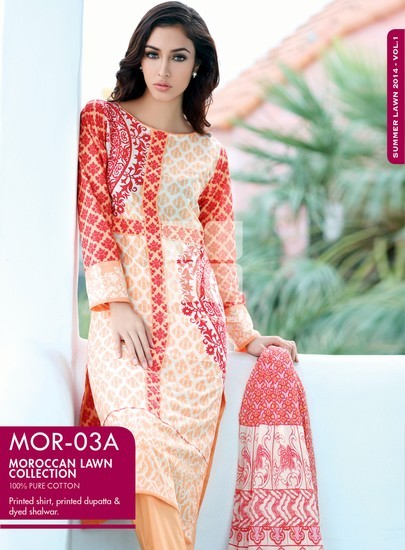 gul ahmed Moroccan Lawn prints, Gul ahmed lawn catalogue 2014