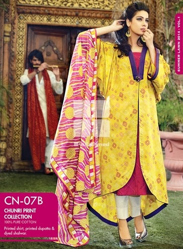 gul ahmed dresses 2014, GulAhmed Chunri Collection 2014/15