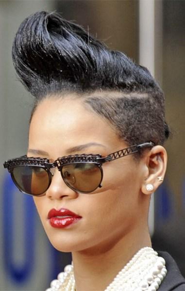 rihanna hairstyle,  rihanna updo hairstyles