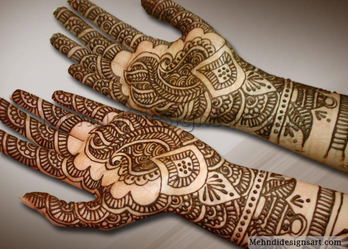 looking Arabic Mehandi designs