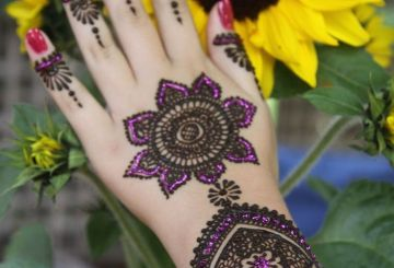 Traditional Round Tikki style Mehndi design