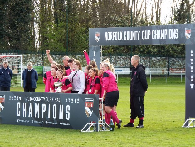 Thorpe United Ladies 2015/16 Norfolk Women's County Cup Winners