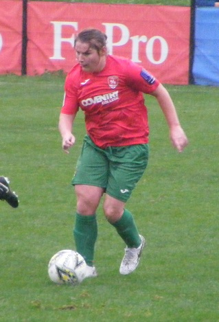 f3d1c2fb72 Marie Gauntlett scorer of the opening goal for Coventry United Ladies