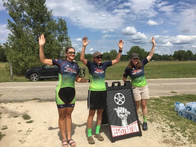 Women's Category 123 podium