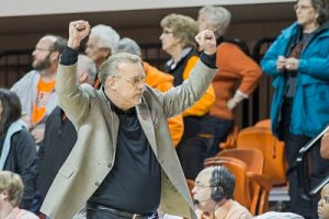 Jim Littell took over the Oklahoma State program in 2011 after the death of coach Kurt Budke, and has kept the Cowgirls in the winning column. Photo courtesy of Oklahoma State University Athletics.