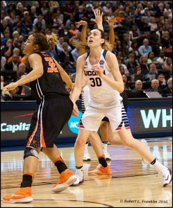 Breanna Stewart looks for the rebound. Photo by Robert L. Franklin.