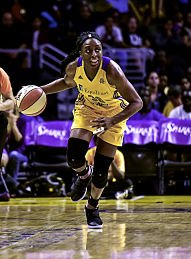 Nneka Ogwumike lead the league in field goal percentage all season long. She also finished third in points and third in rebounds. Photo by Mark Hammond.