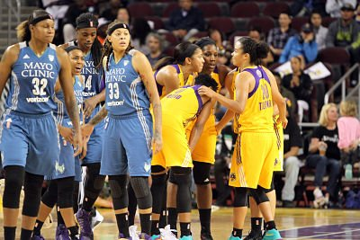 The Minnesota Lynx and Los Angeles Sparks come to the WNBA Finals from very different circumstances. Photo by Ken Brooks/T.G.Sportstv1