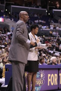 Joe Bryant was assistant coach to Jennifer Gillom in 2010 and 2011, until she was fired that July. Bryant filled in as head coach for the rest of the season. Photo by TGSportstv1.
