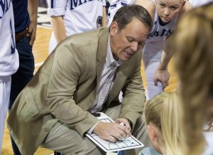 Richard Barron has coached the UMaine Black Bears since 2011. Photo by Peter Buehner.