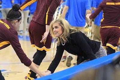 Charli Turner Thorne is in her 20th season as Arizona State head coach. Photo courtesy of Sun Devil Athletics.