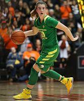 Oregon freshman Sabrina Ionescu notched her fourth triple-double of the season Friday against UCLA. Photo courtesy of Oregon Athletics.