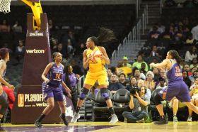 Nneka Ogwumike snags the rebound. Photo by Benita West/TGSportsTV1.