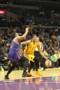 Candace Parker fights around a screen. Photo by Benita West/TGSportsTV1.