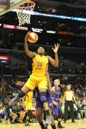 Nneka Ogwumike scores. Photo by Photo by Benita West/TGSportsTV1.