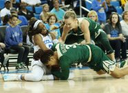 Jordin Canada, Trinity Oliver and Kristy Wallace battle for ball possession. Photo by Maria Noble/WomensHoopsWorld.