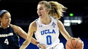 Freshman Chantel Horvat scored 12 points and grabbed 11 rebounds in UCLA's exhibition game Sunday. Photo by Arionne Thomas/UCLA Athletics.