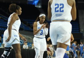 Lauryn Miller and Jordin Canada. Photo by Maria Noble/WomensHoopsWorld.