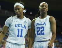 Lajahna Drummer and Kennedy Burke. Photo by Maria Noble/WomensHoopsWorld.