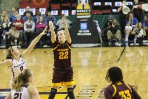 Courtney Ekmark beats the defense to score. Photo courtesy of Sun Devil Athletics.