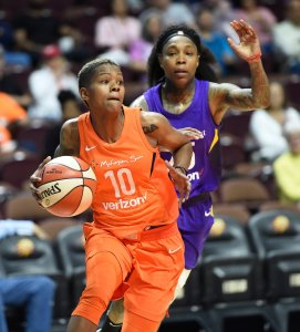 Courtney Williams is aggressive on court and humorous off of it. Photo courtesy of Connecticut Sun.