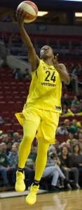 Jewell Loyd goes up for two points.  Neil Enns/Storm Photos.