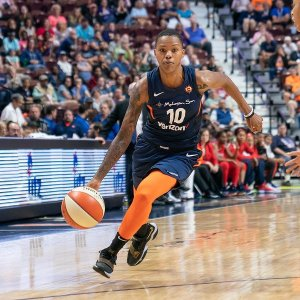 Courtney Williams has brought fire, passion and scoring to the Connecticut Sun. Chris Poss photo.