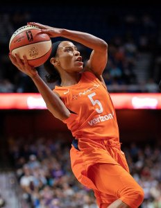 Jasmine Thomas' energy propels her in filling up the stats column in almost every game. Chris Poss photo.