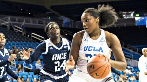 Lauryn Miller and the rest of the UCLA Bruins are trying to grow fast after losing two of the program's best players. Photo courtesy of UCLA Athletics.