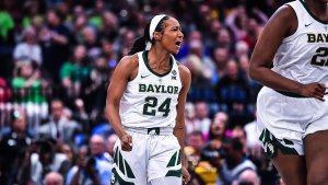 Chloe Jackson scored a career-high 26 points and was named most outstanding player of the game. Photo courtesy of Baylor Athletics.