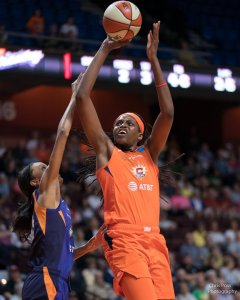 Jonquel Jones has become one of the WNBA's premiere rim protectors. Chris Poss photo.