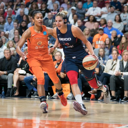 Washington Mystics forward Elena Delle Donne (11) during Game 3 of the WNBA finals between the Washington Mystics and the Connecticut Sun at Mohegan Sun Arena, Uncasville, CT, USA on October 06, 2019. Photo Credit: Chris Poss