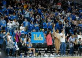 UCLA fans react to the win. Maria Noble/WomensHoopsWorld.