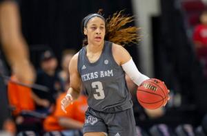 Chennedy Carter finished her junior year seven points shy of the school's all-time scoring record, before entering the WNBA draft. AP file photo.