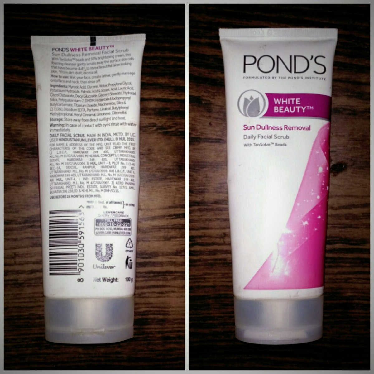 Pond's White Beauty Sun Dullness Removal Daily Facial Scrub Review