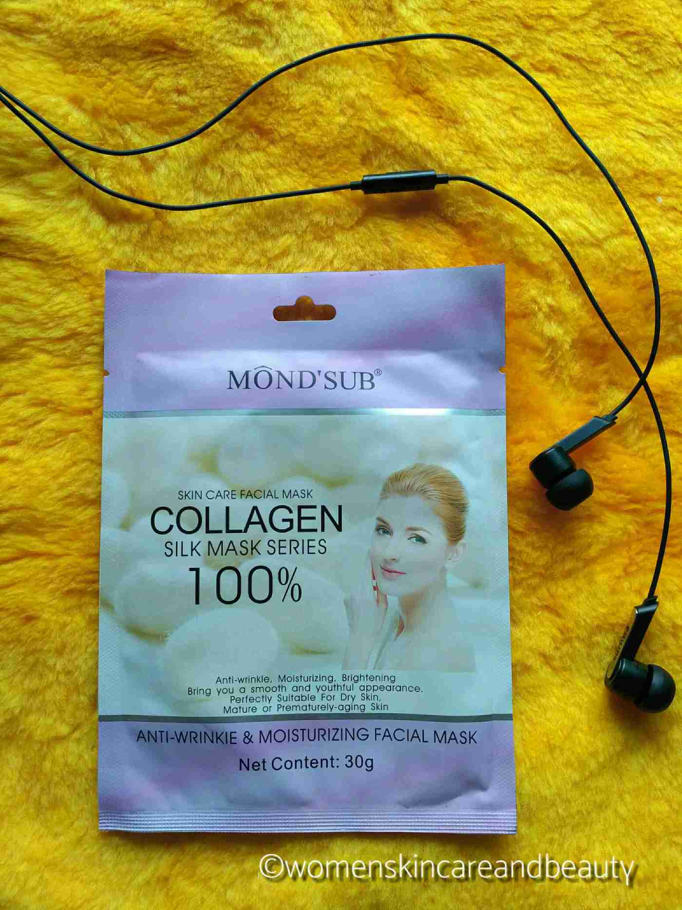 Mond'sub Anti Wrinkle And Moisturizing Silk Collagen Facial Mask