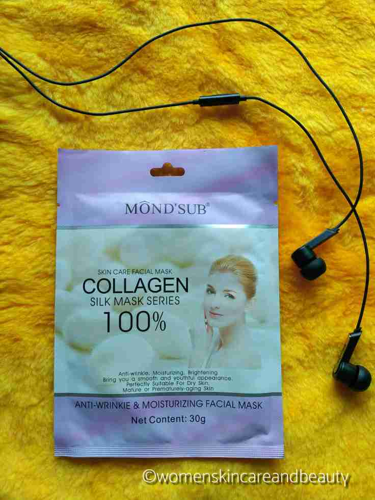 Mond'sub Anti Wrinkle And Moisturising Silk Collagen Facial Mask