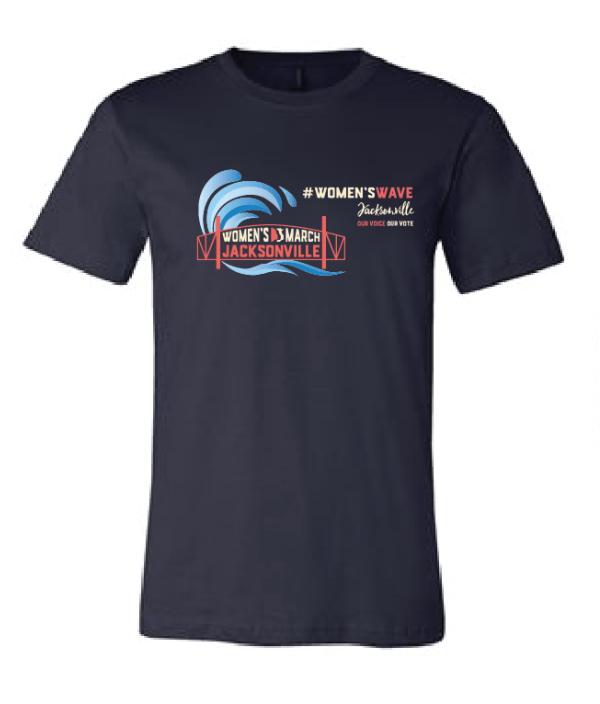 Navy #WomensWave short sleeve t-shirt